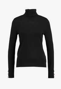 Dorothy Perkins - BUTTON CUFF ROLL NECK - Jumper - black - 4