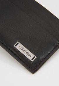 Calvin Klein - SMOOTH PLAQUE CARDHOLDER - Wallet - black - 2