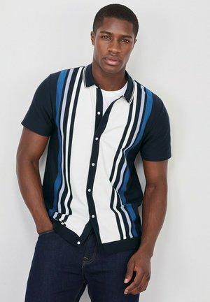 BUTTON THROUGH POLO - Shirt - dark blue