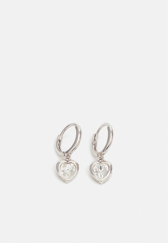 HANNIY CRYSTAL HEART EARRING - Øreringe - silver-coloured/crystal