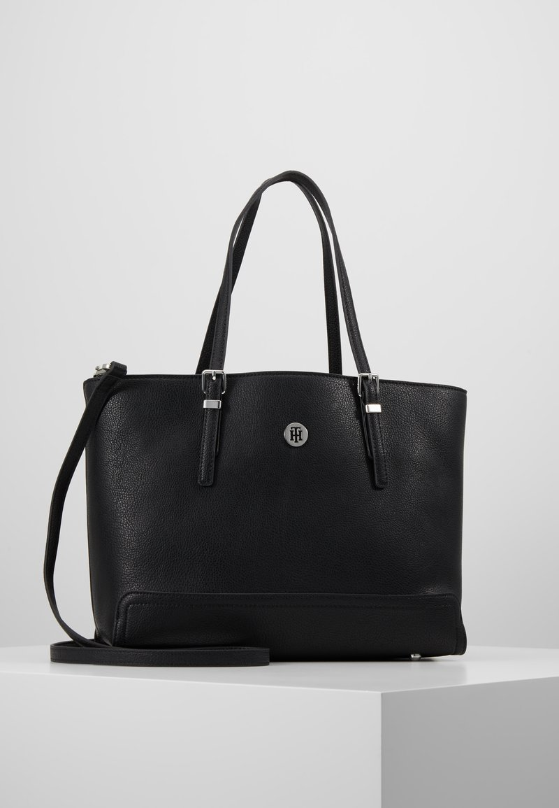 Tommy Hilfiger - HONEY MED TOTE - Handbag - black