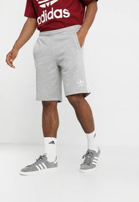 adidas Originals - 3 STRIPE UNISEX - Trainingsbroek - medium grey heather - 0