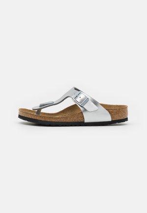 GIZEH KIDS - Sandály s odděleným palcem - electric metallic silver