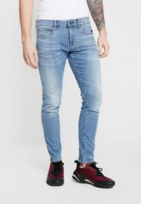 G-Star - REVEND SKINNY - Jeansy Skinny Fit - light indigo aged - 0