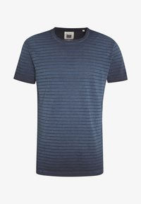 Marc O'Polo - T-SHIRT, SHORT SLEEVE, ROUND NECK, - Print T-shirt - total eclipse - 4