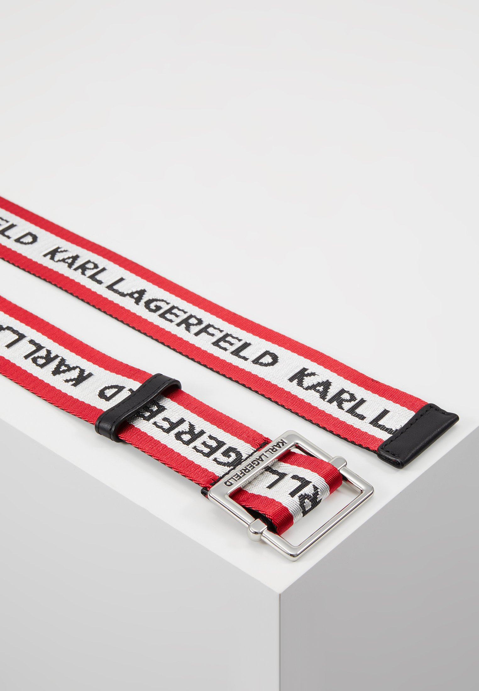 KARL LAGERFELD LOGO WEBBING BELT - Belte - red/rød oagzjulyI5tcLE0