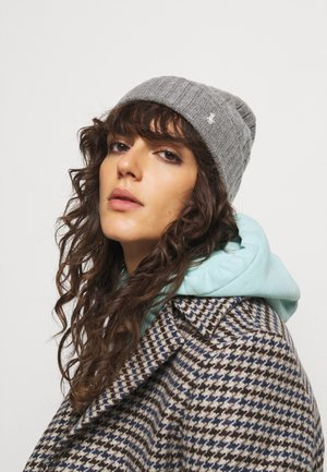 Beanie - fawn grey heather