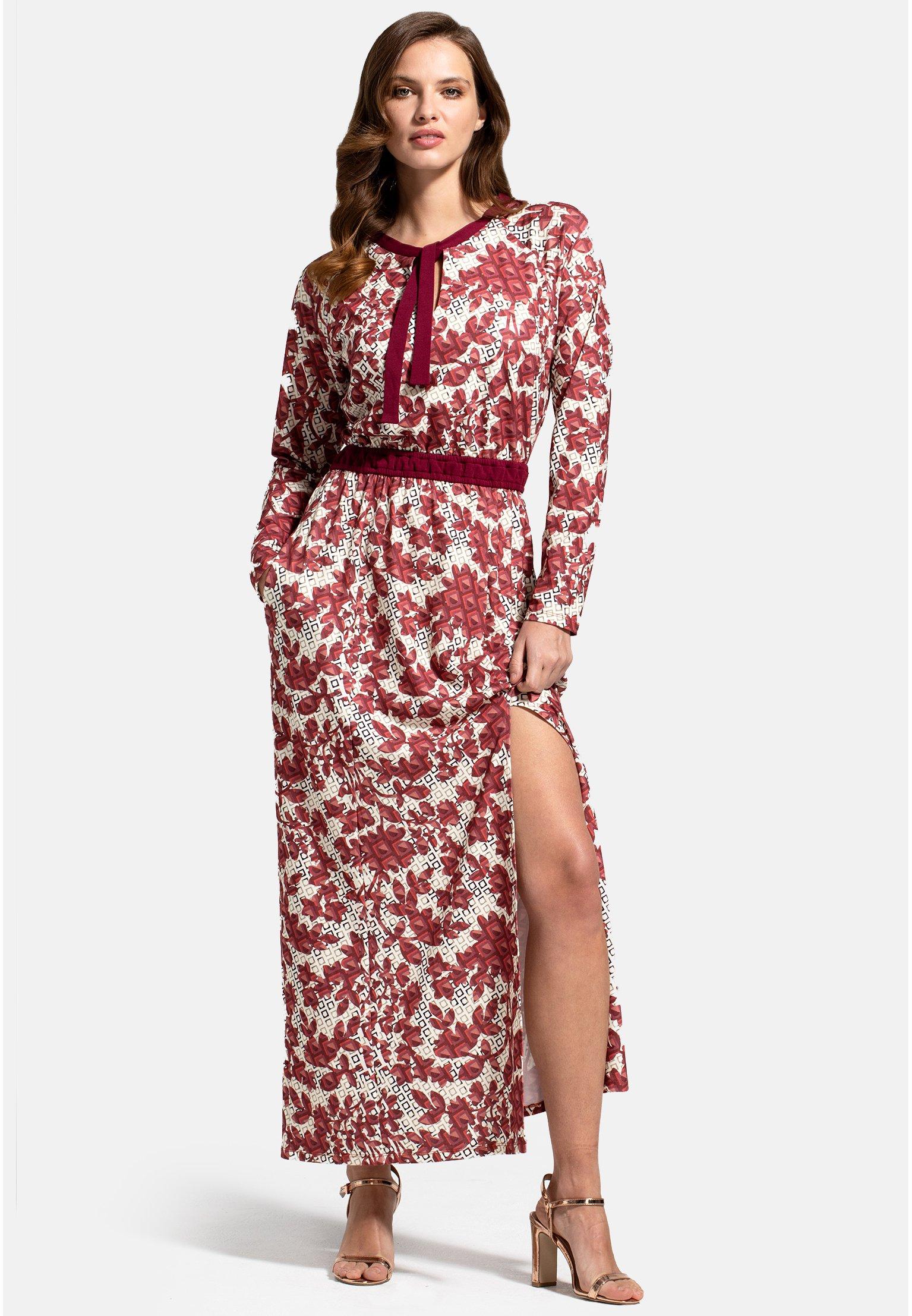 Donna WITH NECK TIE - Vestito lungo