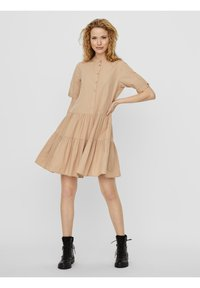 Vero Moda - VMDELTA DRESS - Shirt dress - beige - 3
