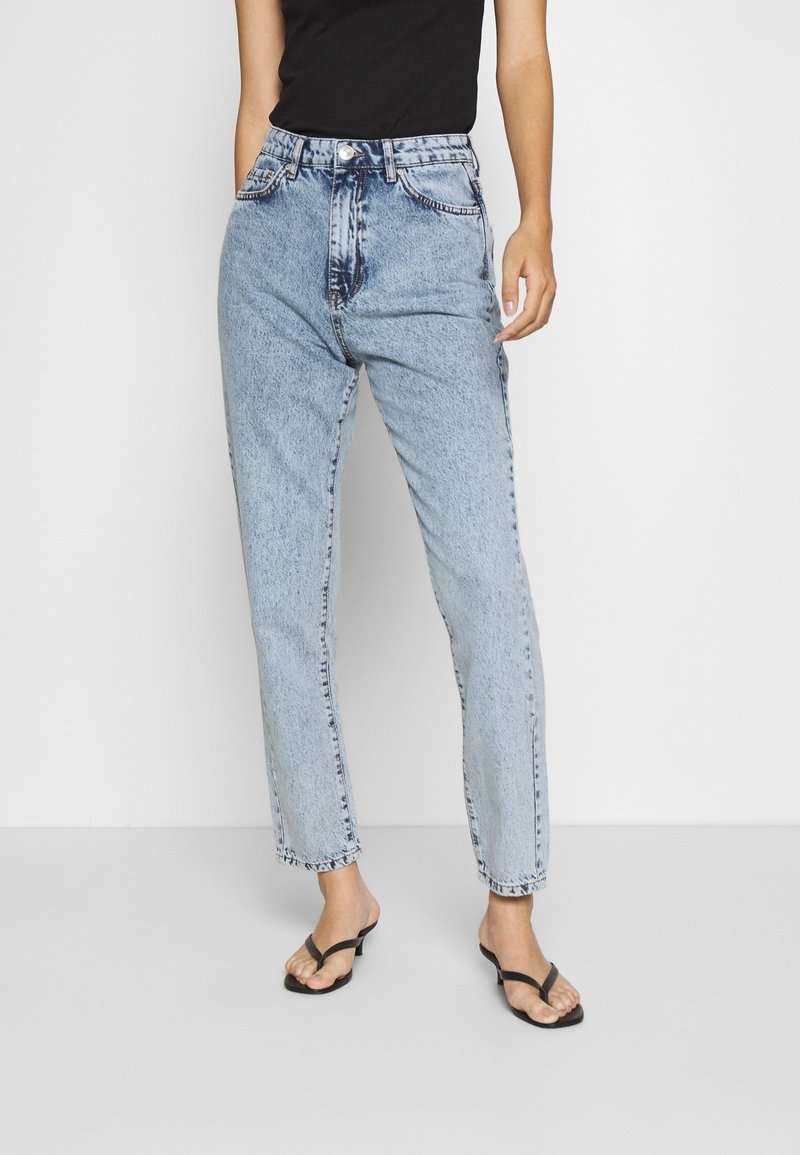 Gina Tricot - DAGNY HIGHWAIST - Relaxed fit jeans - mid blue snow