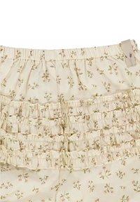 Wheat - Shorts - eggshell flowers - 2