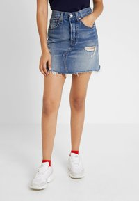 Levi's® - DECON ICONIC SKIRT - Áčková sukně - high plains - 0