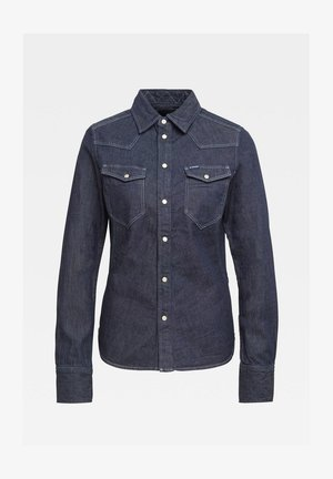 WESTERN KICK DENIM SLIM LONG SLEEVE - Button-down blouse - rinsed