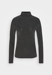 Who What Wear - RUCHED TURTLENECK - Long sleeved top - black - 3