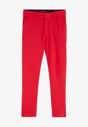 SLIM FIT TAILORED - Trousers - flame