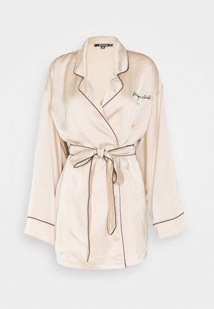 CONTRAST TRIM ROBE - Dressing gown - champagne