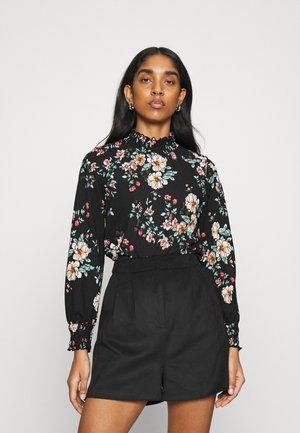 ONLZILLE NAYA SMOCK - Long sleeved top - black/femme