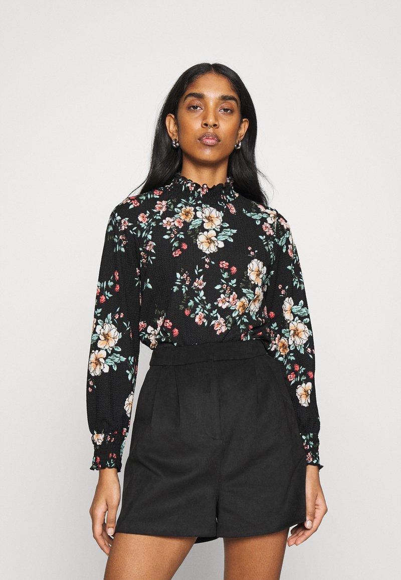 ONLY - ONLZILLE NAYA SMOCK - Long sleeved top - black/femme