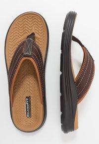 Skechers - SARGO - T-bar sandals - chocolate - 1