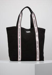 KARL LAGERFELD - KARL WEBBING SHOPPER - Tote bag - black - 0