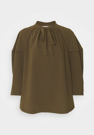 Blouse - dark olive