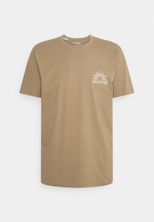 SLHRELAXEDMILO ONECK TEE - Print T-shirt - kelp