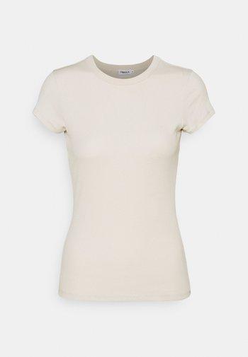 FINE TEE - Jednoduché triko - ivory