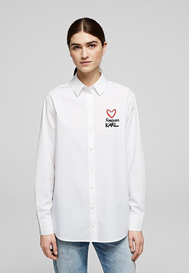 KARL LAGERFELD - Button-down blouse - white