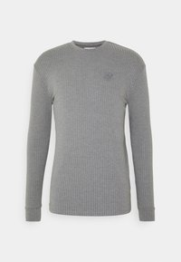 SIKSILK - RIB KNIT TEE - Long sleeved top - grey - 3