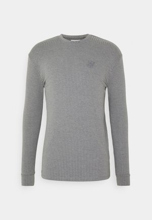 RIB KNIT TEE - T-shirt à manches longues - grey