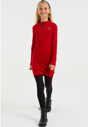 Jumper dress - saffron red