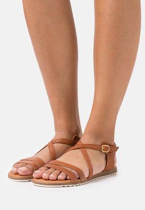 MILA - Sandals - cognac