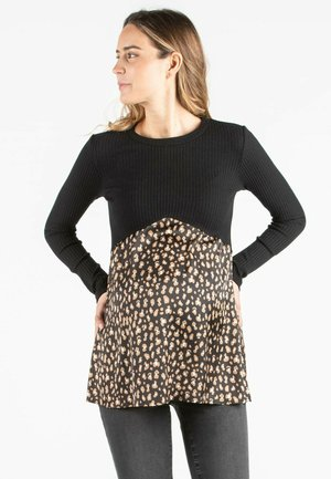 ALESSIA - Long sleeved top - black