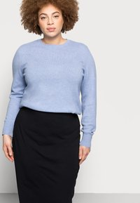 Even&Odd Curvy - 2 PACK - Pencil skirt - black/blue - 4