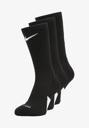 ELITE CREW 3 PACK - Sports socks - black/white