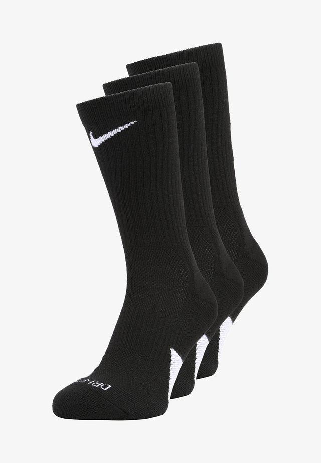 ELITE CREW 3 PACK - Chaussettes de sport - black/white