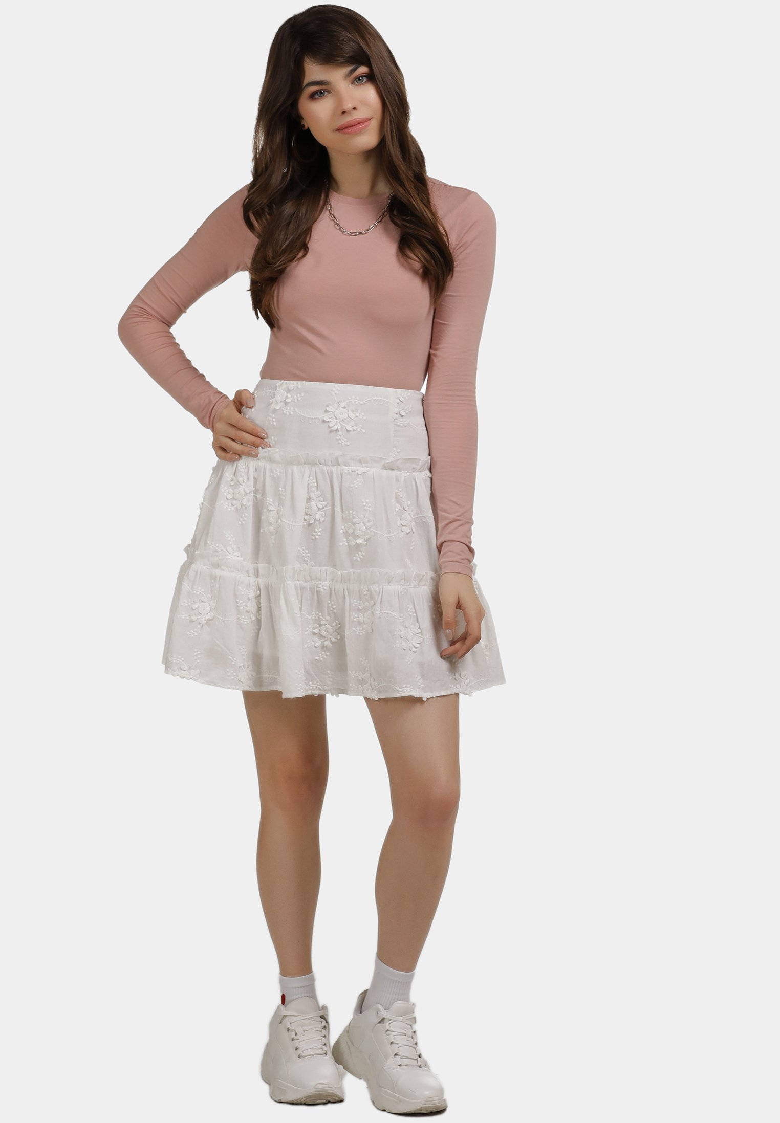 Visit New Women's Clothing myMo A-line skirt weiss hUTnz9vyW