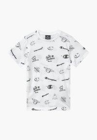 Champion - LEGACY AMERICAN CLASSICS CREWNECK - Print T-shirt - white - 0