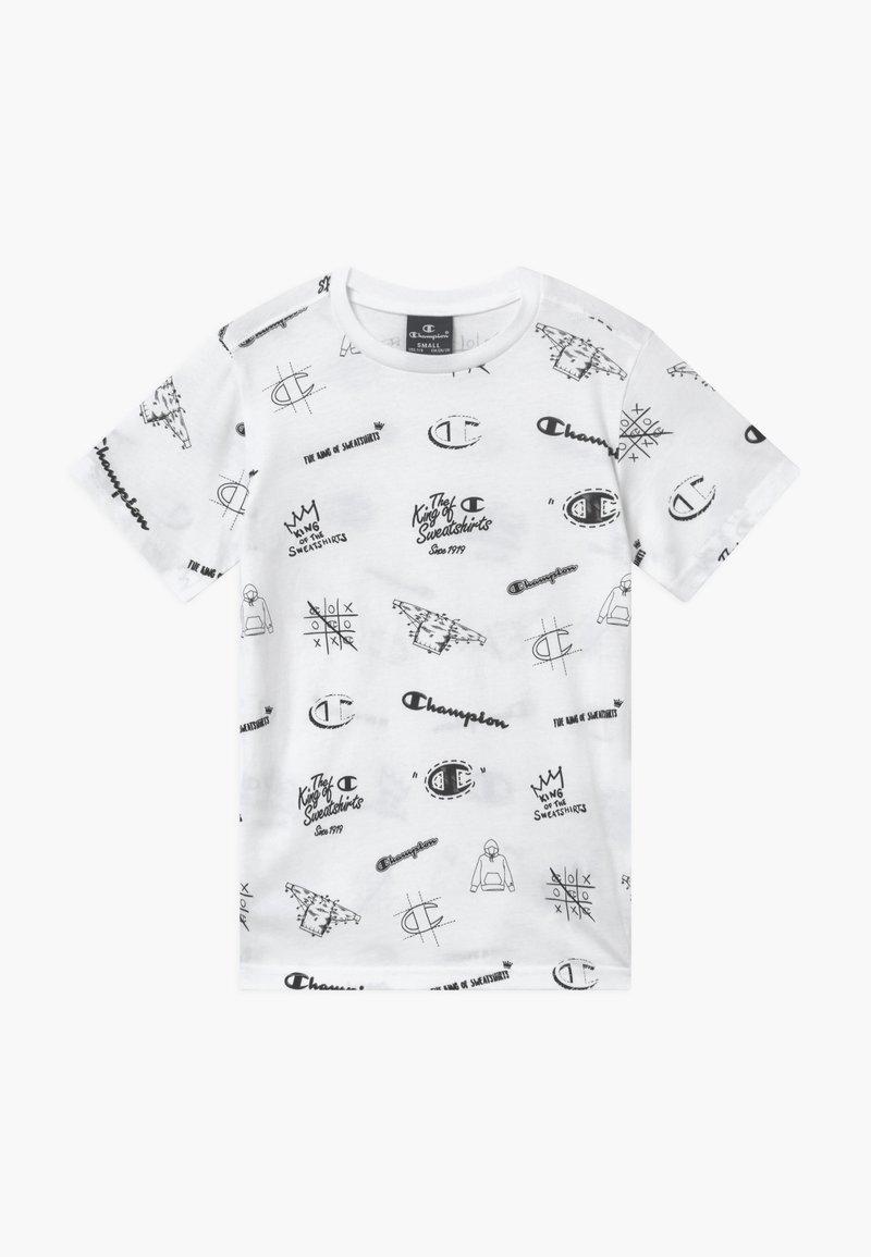 Champion - LEGACY AMERICAN CLASSICS CREWNECK - Print T-shirt - white