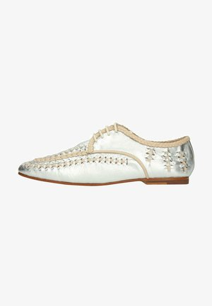 Casual lace-ups - silver