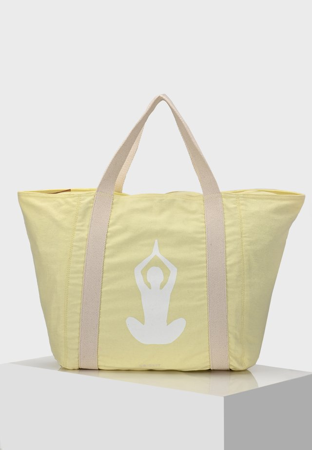 SHOPPER CORDOBA SHOPPER POSITIVE VIBES - Shopping bags - pastellgelb