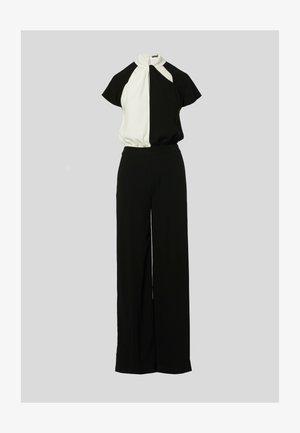 Sukienka dzianinowa - black/white