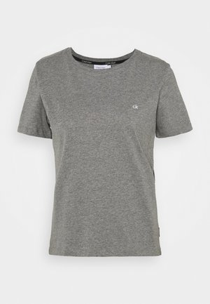 SMALL LOGO NECK  - Basic T-shirt - mid grey heather