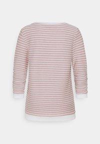 TOM TAILOR DENIM - STRIPED JACQUARD - Langarmshirt - rose/white - 1