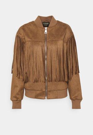 BLAKE FRINGE JACKET - Bomber Jacket - brown