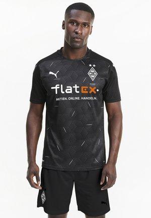 Borussia Mönchengladbach Away Replica - T-shirt con stampa - puma black-puma white