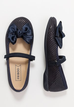 Ankle strap ballet pumps - dark blue