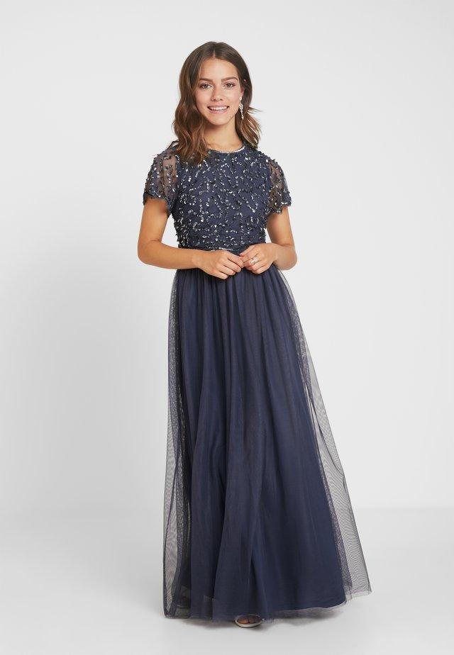TINA SLEEVED DRESS - Festklänning - dark grey