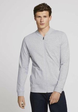 Zip-up sweatshirt - light stone grey melange