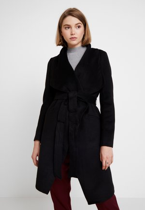 MEGAN FELLED SEAM - Classic coat - black